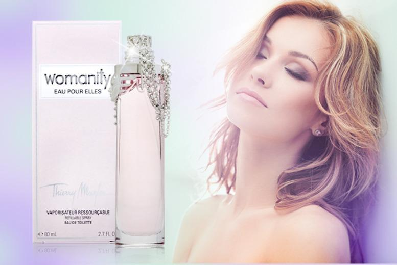 £36 instead of £64 (from The London Perfume Company) for an 80ml bottle of Thierry Mugler Womanity Eau Pour Elles EDT - save 44% + DELIVERY INCLUDED