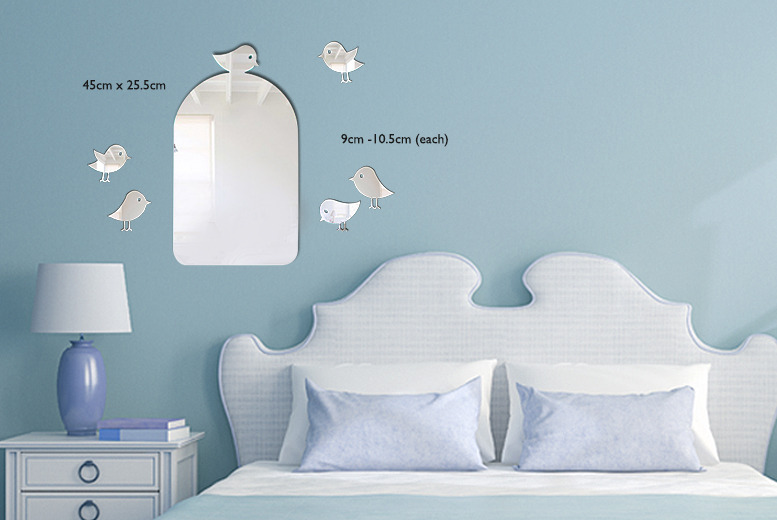 £9.99 instead of £24.95 (from Mungai Mirrors) for a birdcage mirror with two bird mirrors, £13.99 with five - save up to 60%