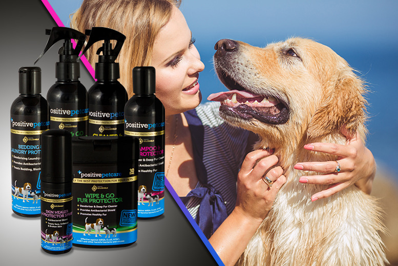 £22.99 instead of £44.99 (from Ministry of Petcare) for a 6-piece Positive Petcare bundle inc. shampoo, fur protector, sanitiser and more - save 49%
