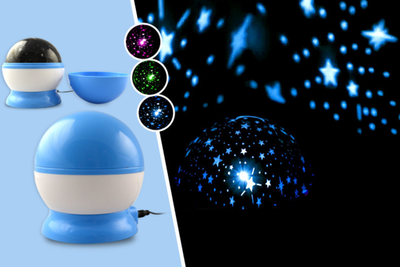 £5 instead of £14.99 (from Web 18) for a multi-coloured starlight projector, £7.99 for a rotating galaxy projector or £9 for both - save up to 67%