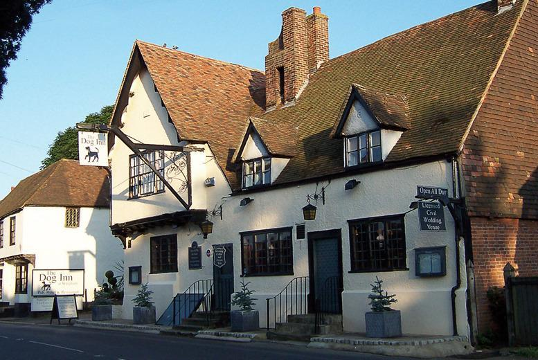 £69 instead of £149 (at The Dog Inn, Wingham) for a 1nt stay for 2 inc. b'fast & dinner, £99 for 2nts, £129 for 3nts - save up to 54%