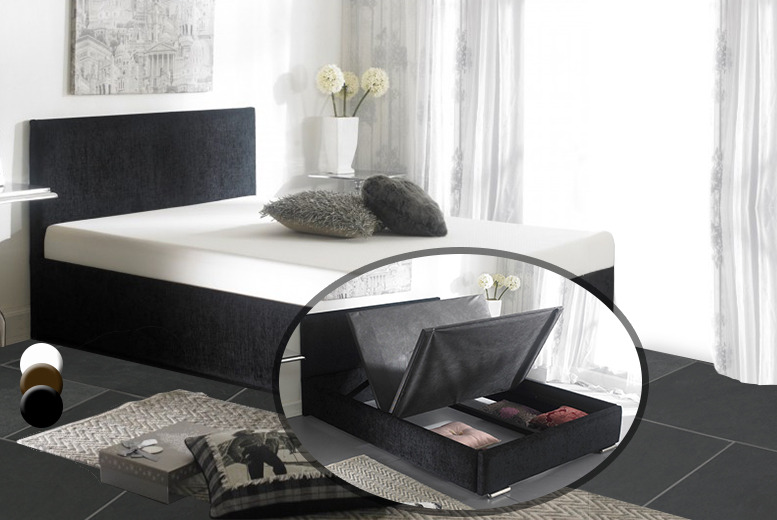 From £199.95 (from Fishoom) for a luxury double chenille-covered Ottoman storage bed or from £239.95 for a king sized bed – save up to 60%