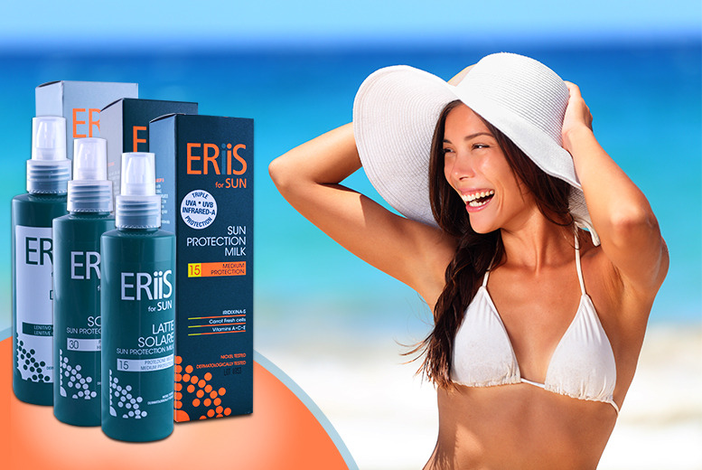 £16 instead of £49.98 (from eseller2u) for ERiiS sunscreen and after sun in a choice of SPF 15 or 30 – save 68%