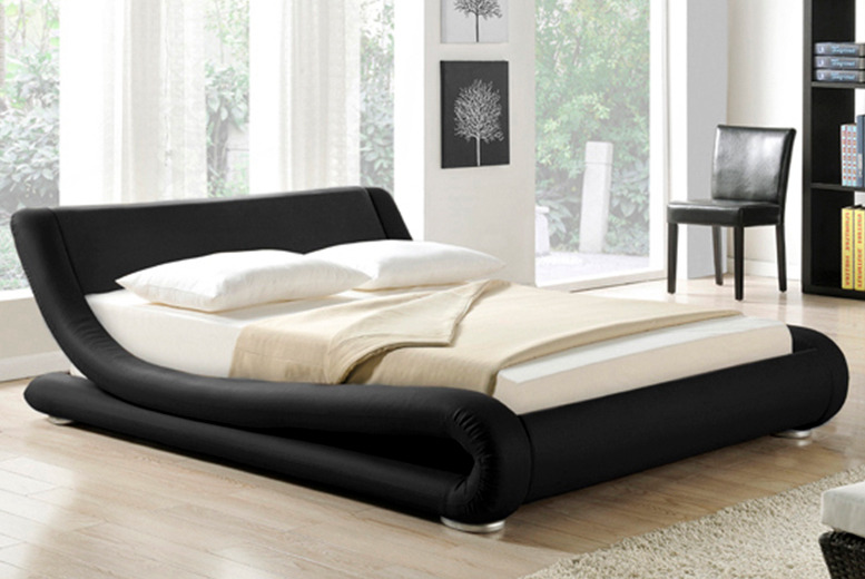 £199 for a Galaxy faux leather bed in double or king sizes from Wowcher Direct - save up to 75% + DELIVERY INCLUDED