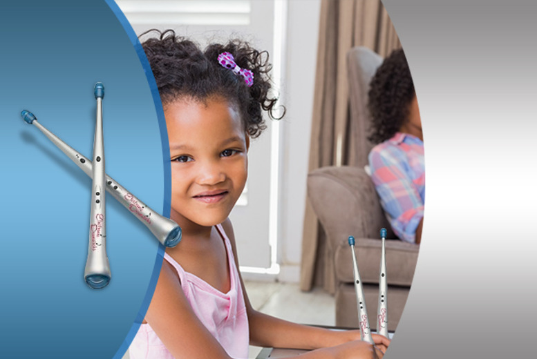 £7.99 instead of £29.99 (from Hungry Bazaar) for a children's electronic drum stick set - save 73%