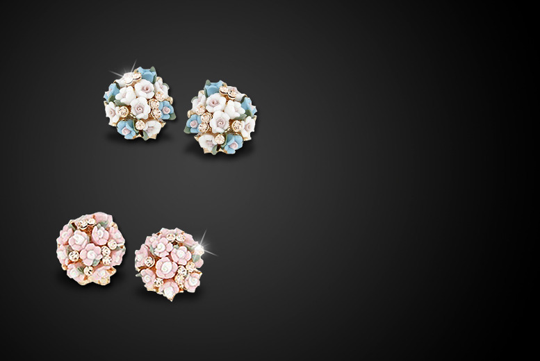 £8 instead of £35 (from My Boutique Store) for a pair or rose crystal glass earrings in a choice of colours – save 77%
