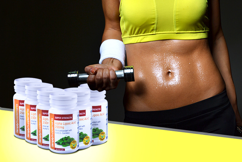 £8 instead of £26.97 (from Simply Supplements) for a 2-month* supply of alpha lipoic acid capsules - save a body-boosting 70% + DELIVERY INCLUDED
