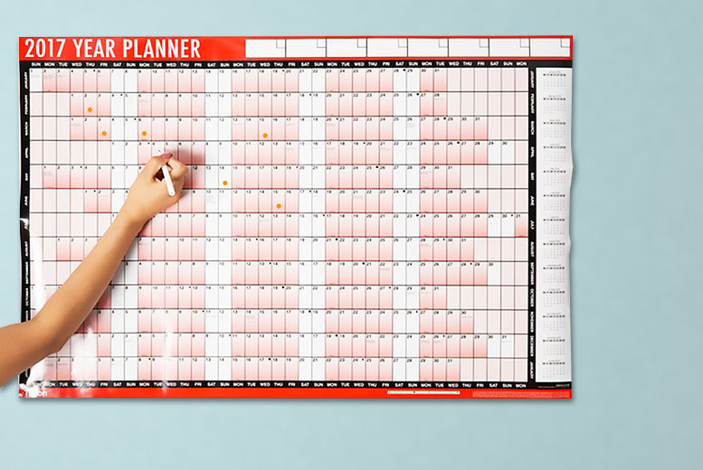 2 or 4 2017 a1 wall planners
