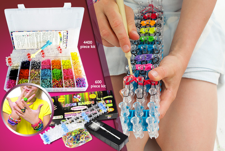 £4.99 (from House of Bargains) for a 600pc bracelet making kit, or £14.99 for 4400pc kit - save up to 50%
