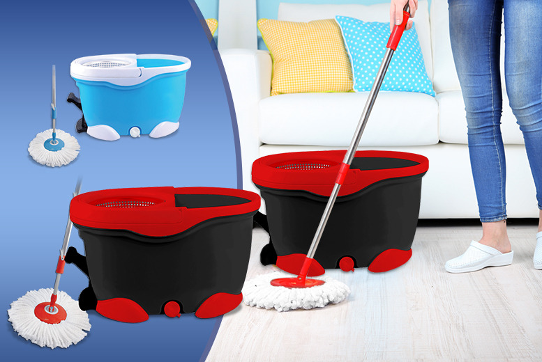 £17.99 instead of £39.99 (from SQ Professional) for an Easy Mop & Bucket – pick between two fab colours and save 55%