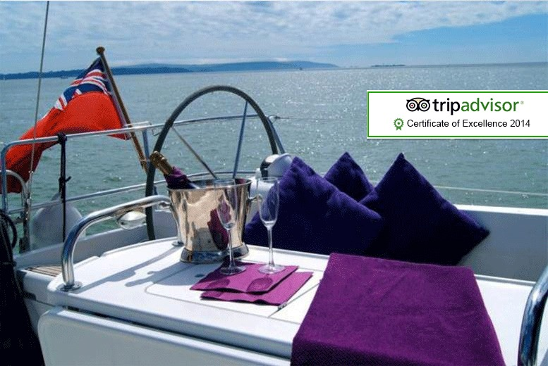 £89 for a half-day Solent sailing trip inc. 2-course meal and Champagne, £421pp for a 1nt trip or £875 for a half-day trip for 10 - save up to 55%
