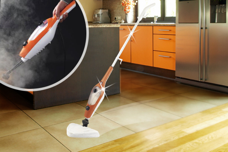 £45 instead of £149.99 (from Groundlevel.co.uk) for a 9-in-1 steam mop - save 70% + DELIVERY IS INCLUDED!