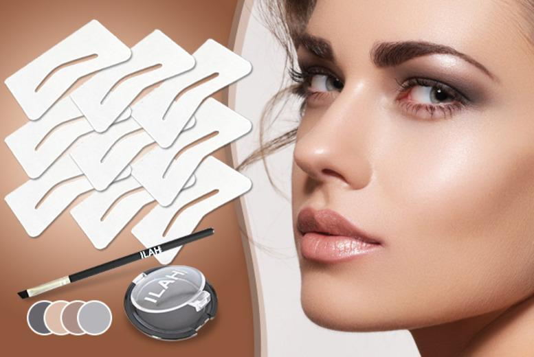 £13 (from Ilah) for an 11-piece brow kit inc. 9 stencils, powder and brush, £19 inc. brow balm + DELIVERY INCLUDED