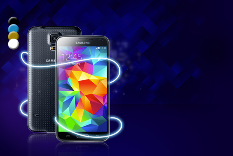 £10 instead of £69.99 (from Mobile Phones Direct) for a Samsung Galaxy S5 when you sign up to 24-month contract - save 86% + DELIVERY IS INCLUDED!