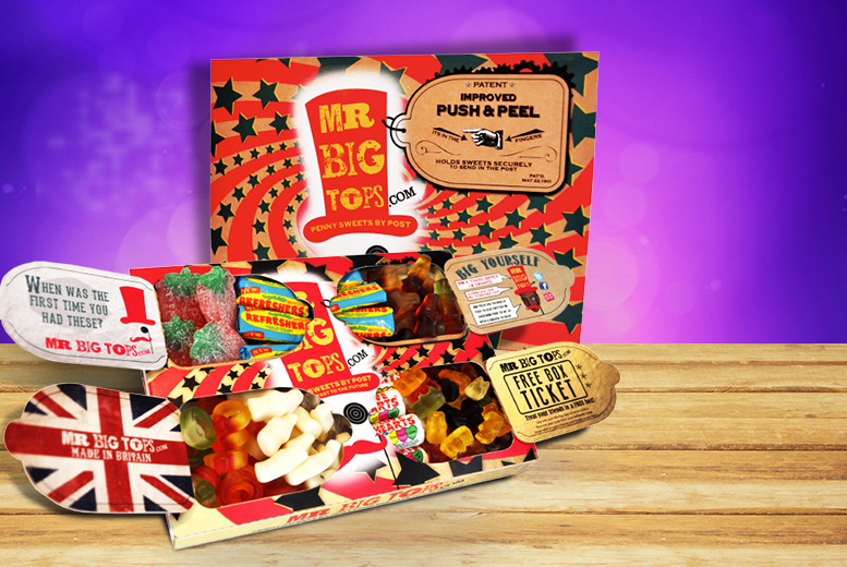 £4.99 instead of £9.98 (from Mr Big Tops) for 2 boxes of retro sweets - re-live your childhood favourites and save 50% + DELIVERY IS INCLUDED
