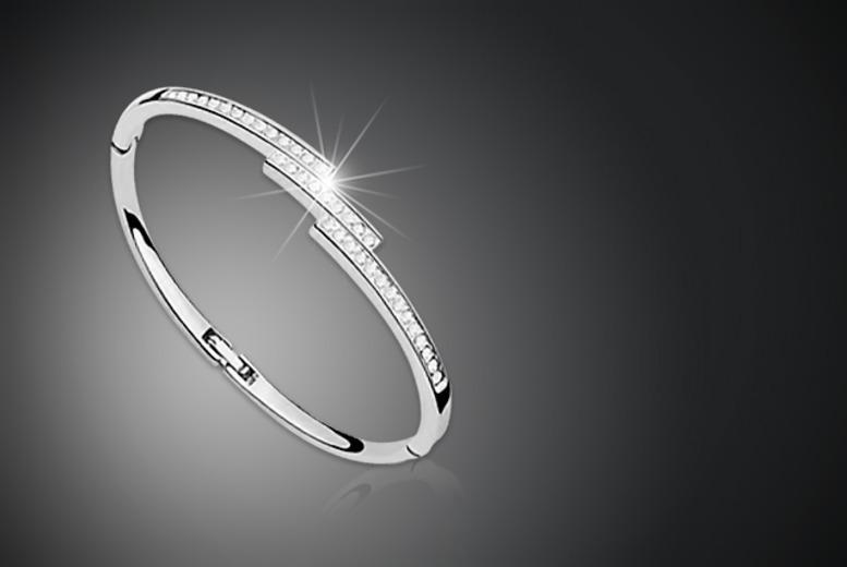 £10 instead of £79.99 (from Marcus Emporium) for a bangle made with Swarovski Elements - save 87%