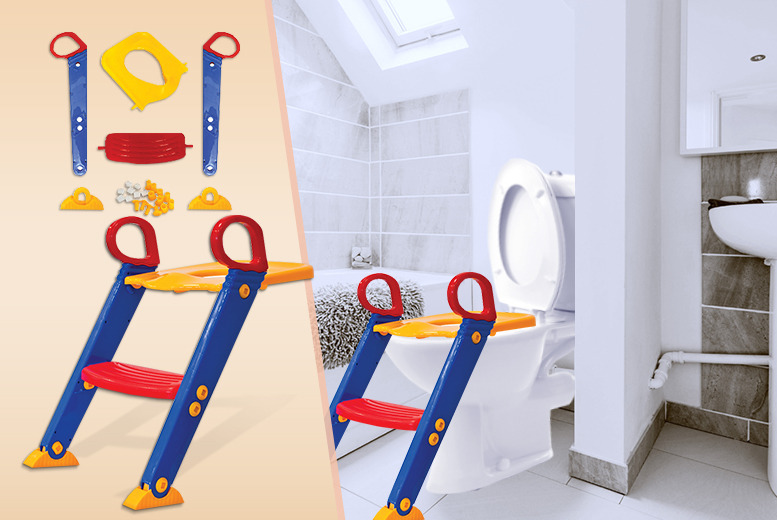 £11.99 instead of £29.99 (from SQ Professional) for a kids toilet training seat with steps - save 60%