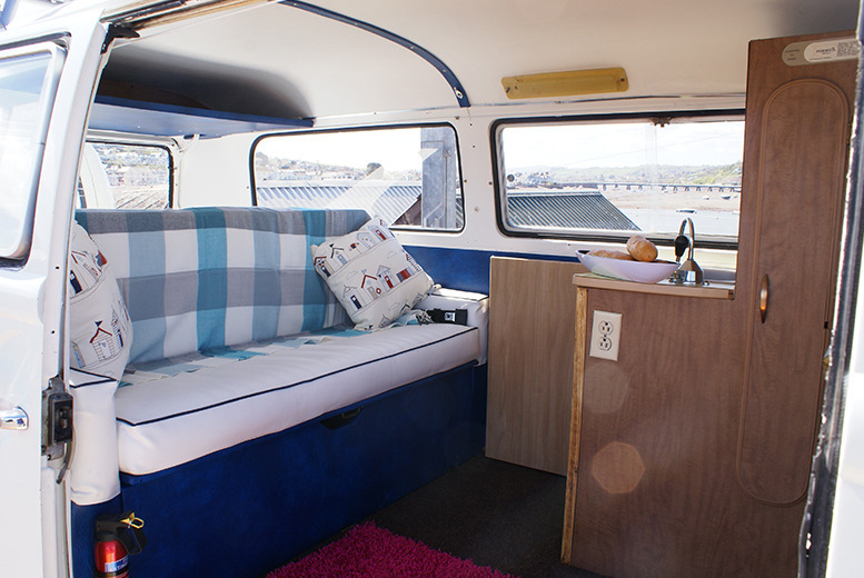 £129 for a 3-night weekend VW Campervan hire for up to 4 people, or from £169 for 4-night midweek hire from VDubAndAway, Teignmouth - save up to 57%