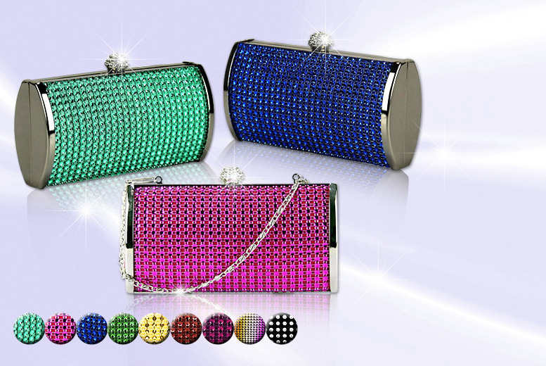£14.99 instead of £59.99 (from Akzezorys) for a 3-in-1 diamante clutch - choose from 9 colours and save 75%