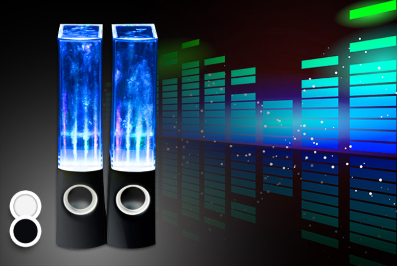 £12.99 instead of £59.99 (from Groundlevel.co.uk) for a pair of dancing water speakers in a choice of black or white - save 78%