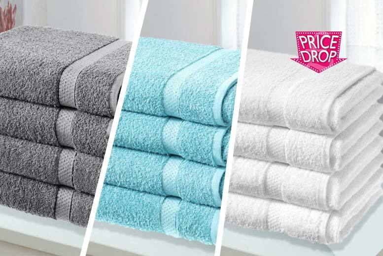 £14.99 instead of £79.99 (from Groundlevel) for four super soft Egyptian cotton bath sheets - choose from 10 colours and save 81%