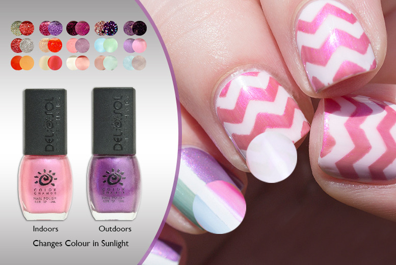 £9.99 instead of £19.97 (from Colour Change Nail Polish) for a 3-piece set of colour-changing nail polishes - choose from 15 shades and save 50%