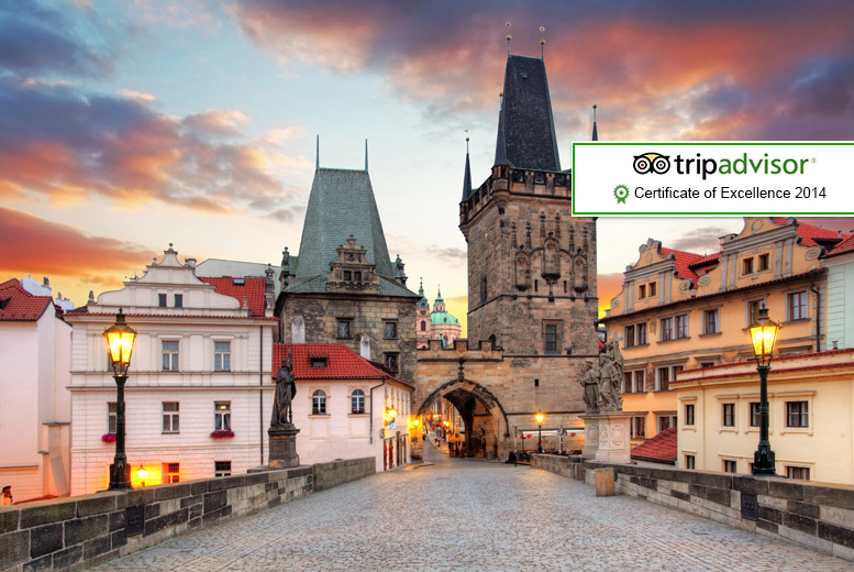 From £89pp (with Tour Center) for a 2-night Prague break including return flights and breakfast each morning of your stay - save up to 32%