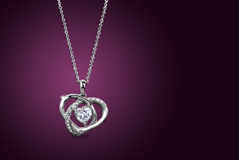 £9 instead of £58 (from Evoked Design) for a whirlwind love necklace made with Swarovski Elements - save 84%