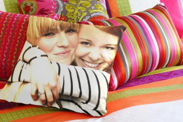 "From £8 (from Dip Into Sales) for a 12"" x 12"" personalised photo cushion - save up to 60%"
