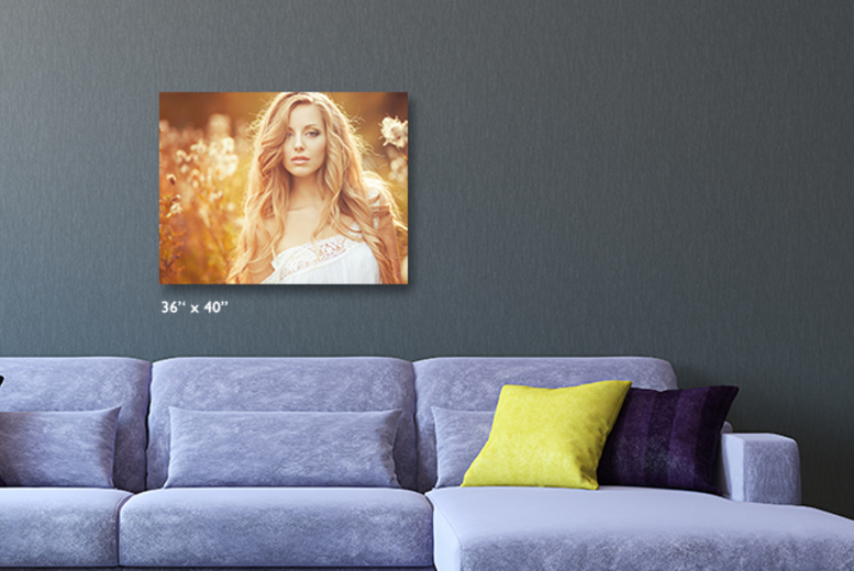 "£25.99 instead of £69.99 (from Great Photo Gifts) for a personalised 36""x 40 canvas print - save 63%"