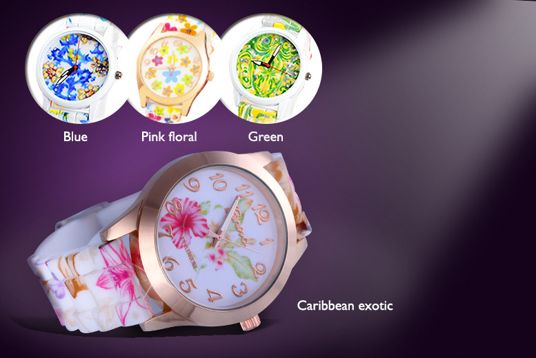 £12 instead of £34.99 (from Marcus Emporium) for a silicone floral watch - save 66%