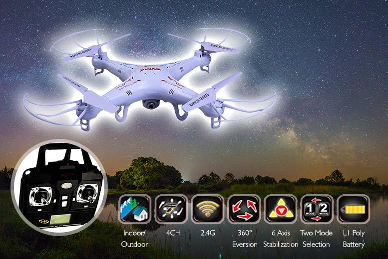 £49 instead of £143 (from Costzu) for a remote-controlled drone including a camera - save 66%