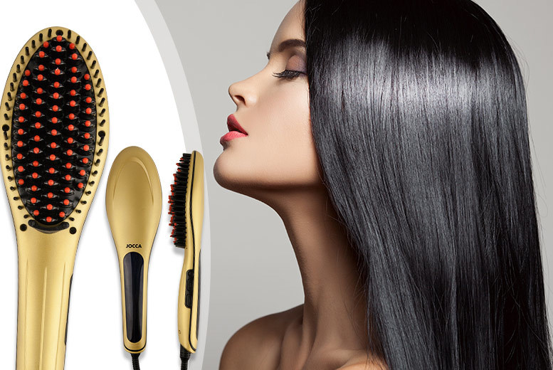 £24 instead of £106 (from Meadow Vale) for a gold hair straightening brush with a ceramic plate - go for gold and save 77%