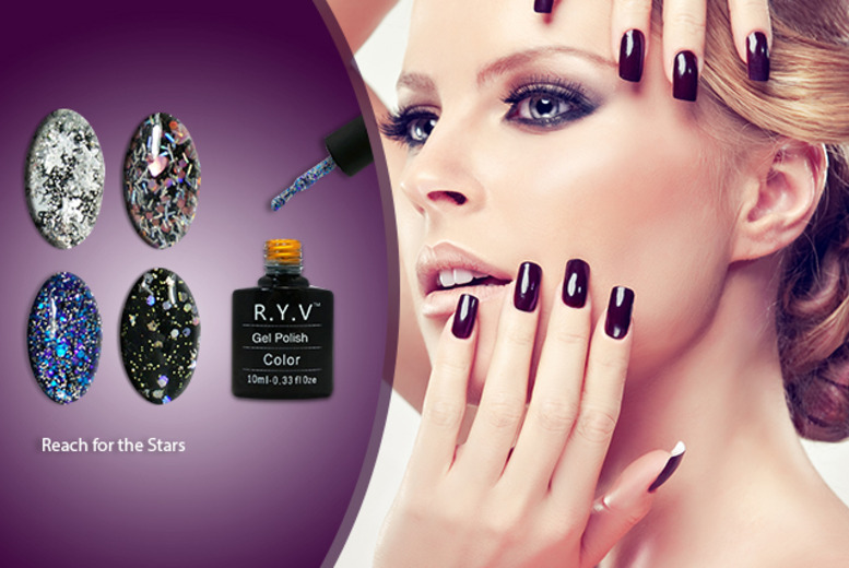 £14 instead of £23.56 (from RYV Products) for 4 glitter gel polishes - save 41%