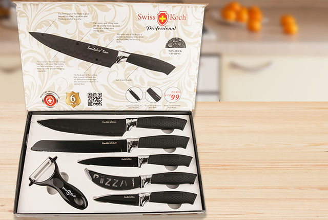 6pc swiss koch professional culinary set 2 colours