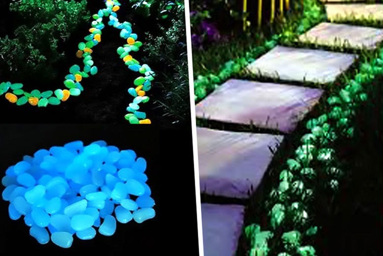 £4.99 instead of £18.99 for a set of 100 glow-in-the-dark pebbles with solar charge from Ckent Ltd - save 74%