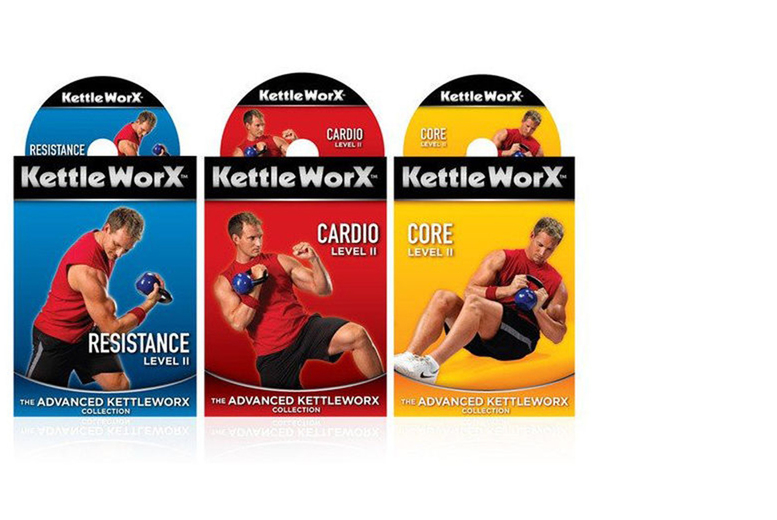 From £4.99 for a three KettleWorx workout DVDs or upgrade and include a 5lb Kettlebell from Ckent Ltd - save up to 55%
