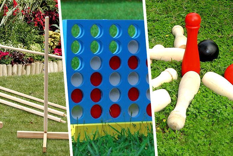 From £9 (from Zoozio) for a choice of giant garden games including skittles, noughts and crosses, croquet and more - save up to 47%