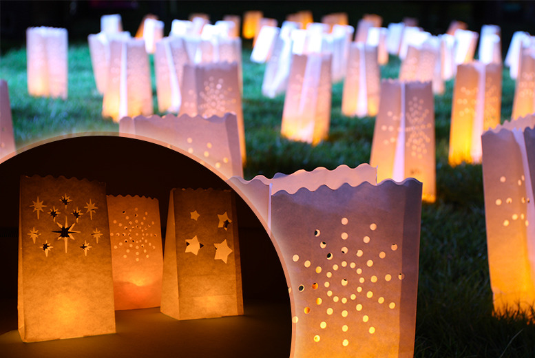 £5 instead of £12 (from Urshu) for 12 candle 'bag' lanterns made from flame-retardant paper, or £9 for 24 - save up to 58%