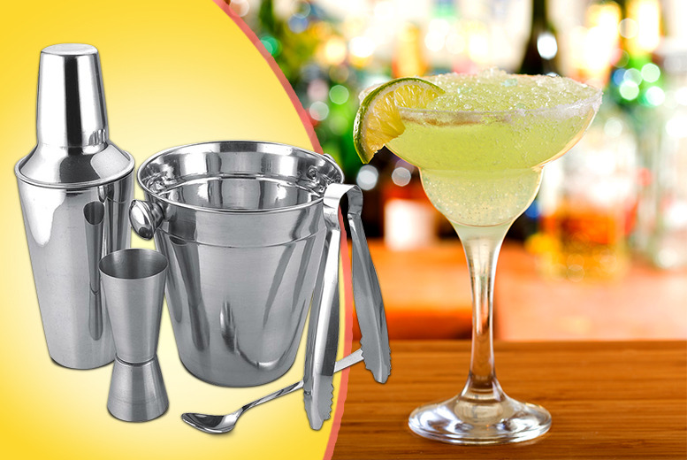 £10.99 instead of £19 for a 5-piece stainless steel cocktail set, £19 for 2 sets from Wowcher Direct - save up to 42% + DELIVERY IS INCLDUED