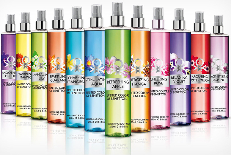 £14.99 instead of £76.47 (from ClearChemist) for four 250ml bottles of Benetton body mist - choose from 12 fragrances and save 80%