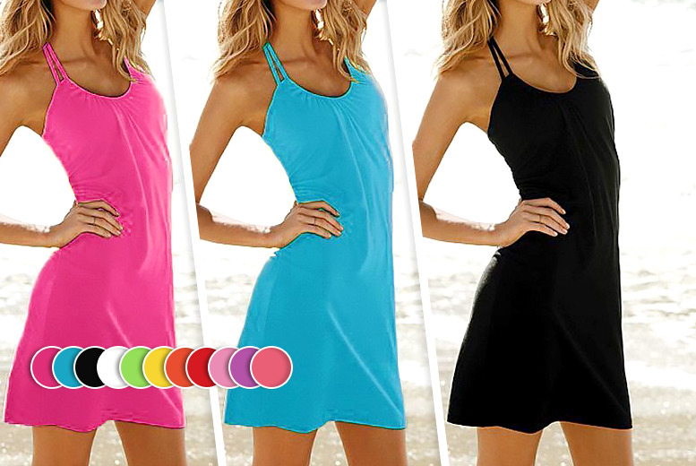 £6.99 instead of £29.99 (from Bluebell Retail) for a halterneck dress, or £12.99 for two - choose from 10 colours and save up to 77%