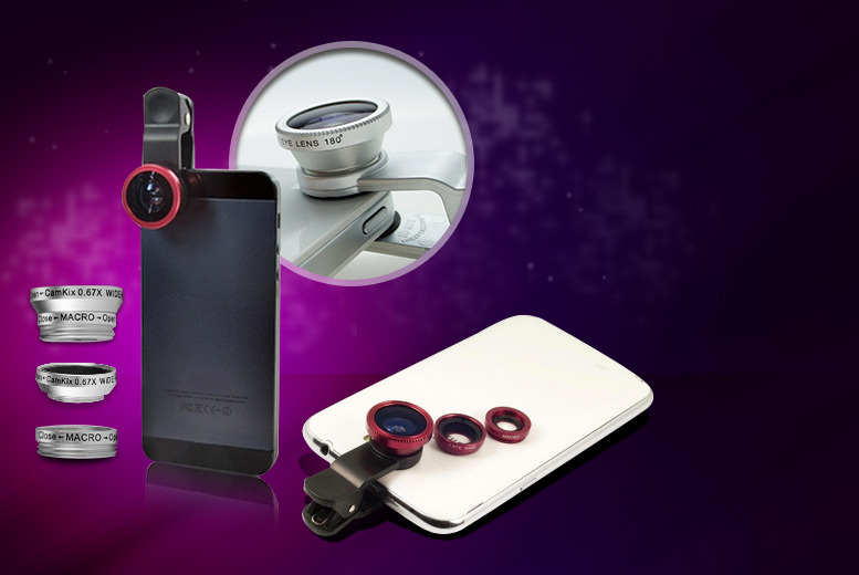 £7.99 instead of £22.99 (from D2D) for a universal 3-in-1 smartphone camera lens - save a picture-perfect 65%