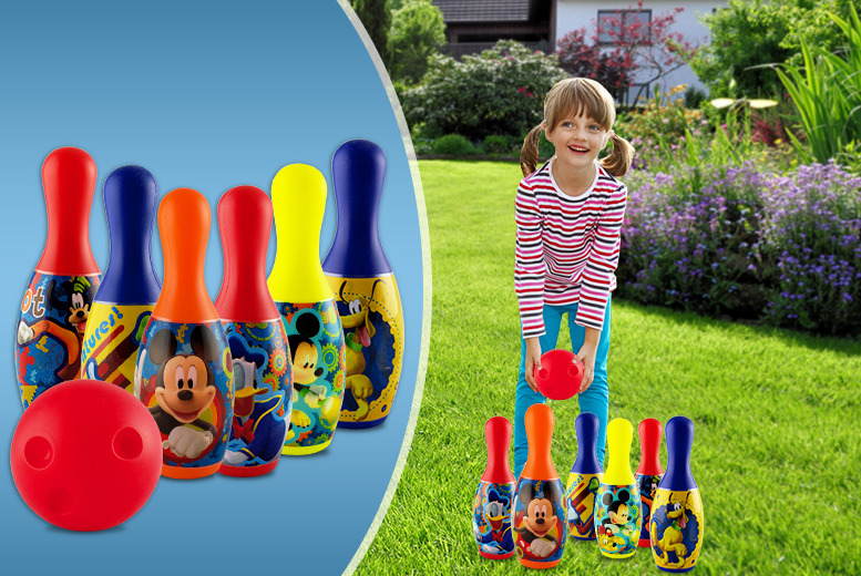 £6 for a 7-piece Mickey Mouse bowling set from Wowcher Direct!