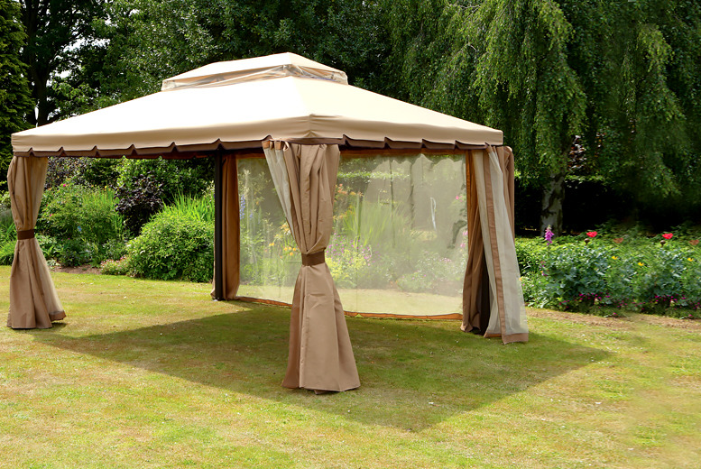 £299 for a grand pavilion gazebo from Wowcher Direct - host the perfect garden party!