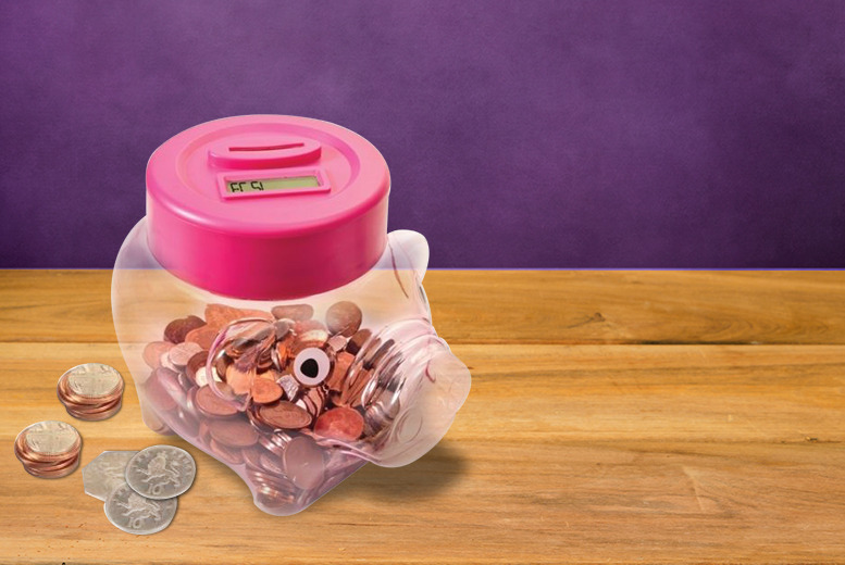 £7.99 instead of £29.99 (from Hungry Bazaar) for a piggy bank digital coin counter - bring home the bacon and save a ham-azing 73%