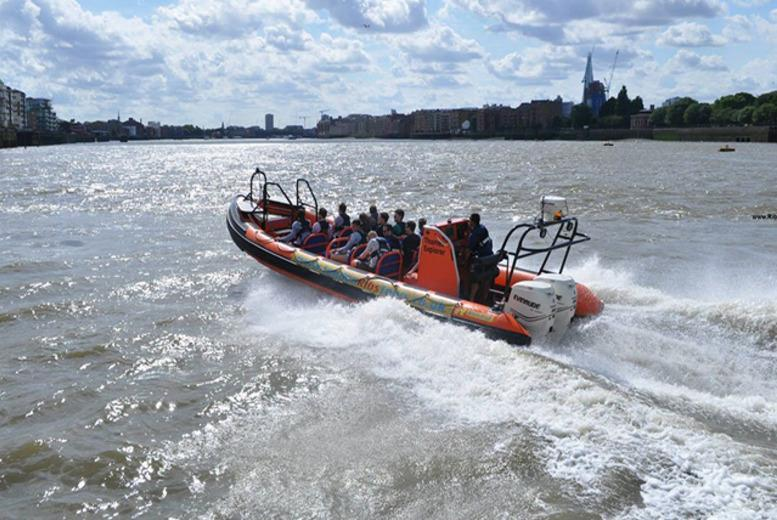 £25 for a 50-minute RIB boat thrill ride for one adult along the River Thames with RIB Tours London, South Bank