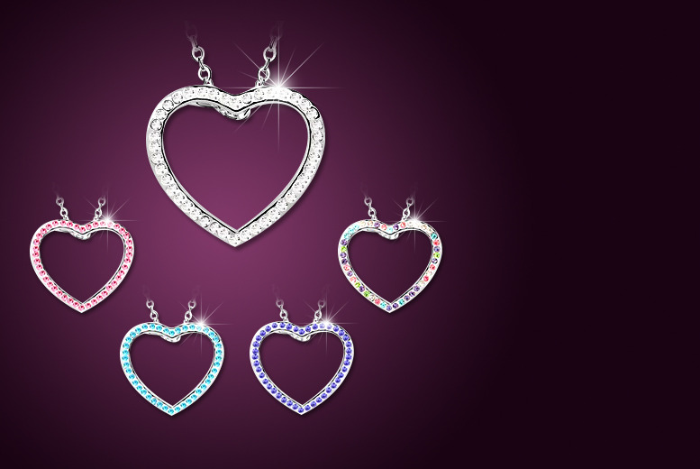 £9 instead of £47 (from Evoked Design) for a heart necklace made with Swarovski Elements - save 81%