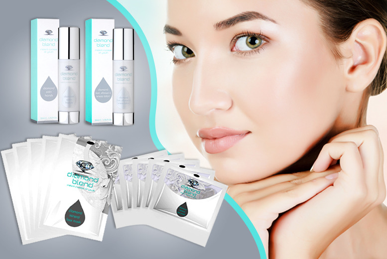 £14 (from Diamond Blend) for an 11-piece Diamond Blend skincare set inc. 5x face masks, 5x eye masks and foot or hand lotion - save up to 92%