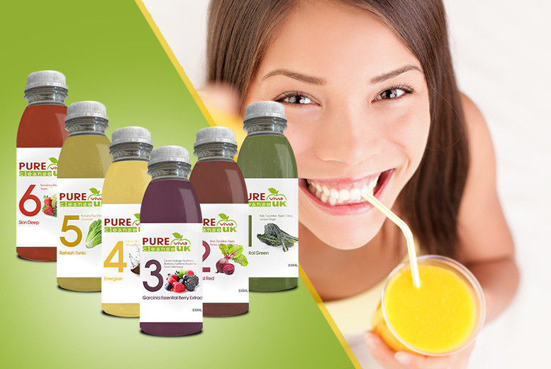 £59 instead of £99 (from Pure Viva Cleanse) for a 3-day juice cleanse pack, £99 for a 5-day pack, £140 for a 7-day pack - save up to 40%